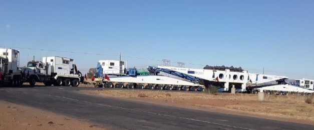 NamPower's colossal 175 tonne transformer makes its way to Gerus Substation
