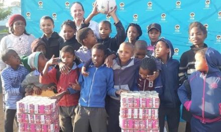 Dordabis learners receive popular canned Horse Mackerel from financial benefactor