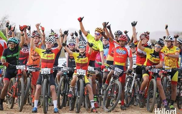 Close finishing times show strong competition between mountain bike riders