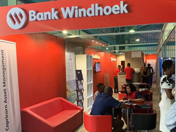 Bank Windhoek's mini-branch at the Ongwediva Trade fair to meet the unique needs of customers