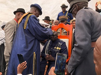 Zeraeua crowned chief of the OvaHerero community in the Erongo region
