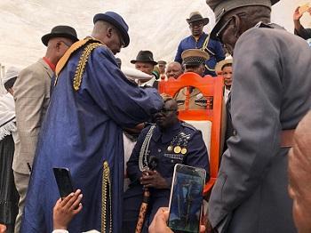 Zeraeua crowned chief of the OvaHerero community in the Erongo region