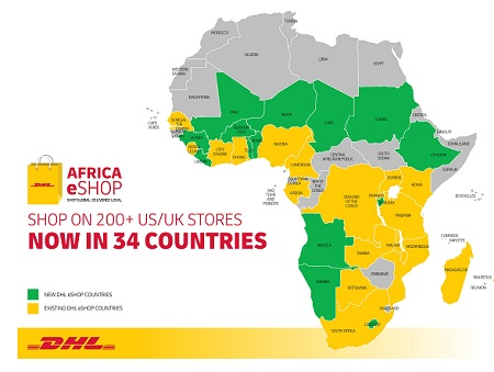 Namibia among the 34 countries across Africa to have access to DHL Africa's eShop platform