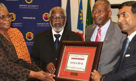 Namibia commemorates Gandhi @150 – Special commemorative stamps launched