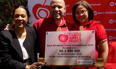 Bank Windhoek's apple project raises N$2.5 million for the Cancer Association