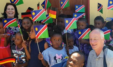 Okuryangava's 'Bright Hill Pre-School' gets more light courtesy of the German Embassy