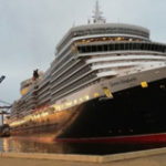 Queen Elizabeth docks in Walvis Bay