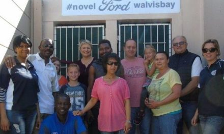 Staff at Novel Ford Walvis Bay volunteer at SPCA to clean kennels and start construction of new kennels