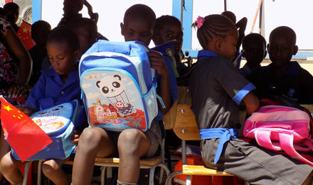 Monte Christo Project Primary School learners get backpacks to start the new term