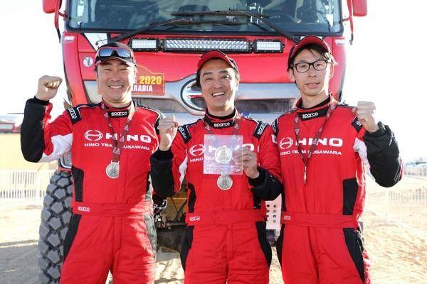 Team Sugawara takes 11th class win in 2020 Dakar in a 4-wheel-drive Series 500 Hino