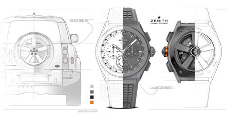 Land Rover, Zenith create a timepiece that captures the essence of the new Land Rover
