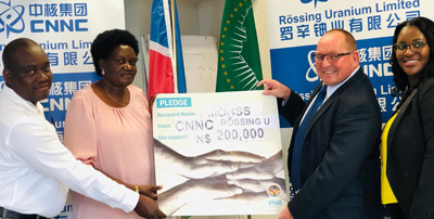 Rössing donates funds to strengthen government's actions against COVID-19
