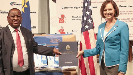 U.S. donates N$100 million to fight COVID-19 in Namibia