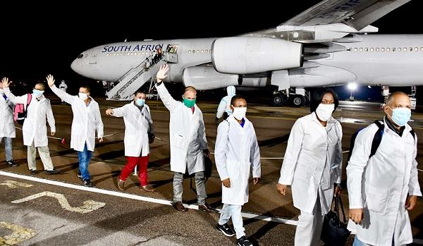 Cuban doctors and health technicians arrive in SA to get Covid under control