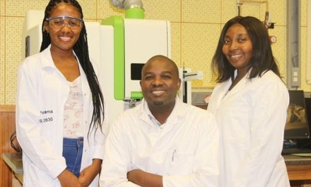 Tsumeb smelter's in-house laboratory makes own sanitiser following WHO formula