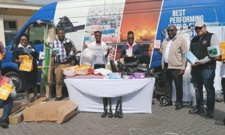 Namport sends toilets to Twaloloka, medical supplies to Walvis Bay state hospital