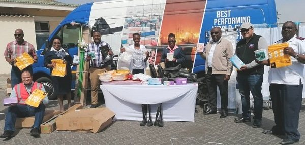 Namport sends toilets to Twaloloka, medical supplies to Walvis Bay state hospital