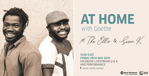 Join The Ell's and Sean K at Home with Goethe