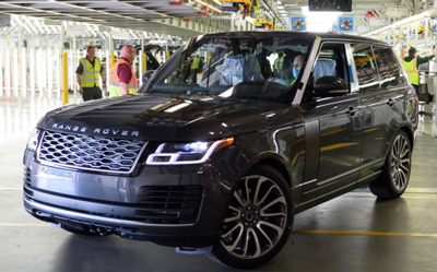 First Range Rover made under social distancing measures rolls off Jaguar Land Rover's Solihull production line