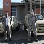 Two Land Cruisers donated by the American Defence Force help combat wildlife crime