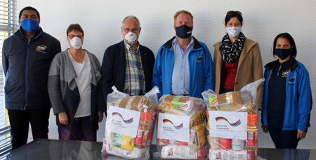 German Embassy supports communities with food parcels