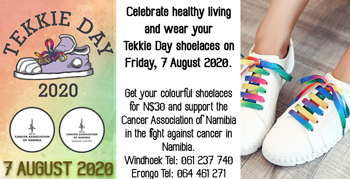 Cancer Association's Tekkie Day slated for August – Shoelaces now on sale
