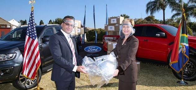 Namibia to benefit from face shields assembled by Ford SA