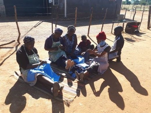 Witvlei rural women upcycle old school uniforms to make face masks