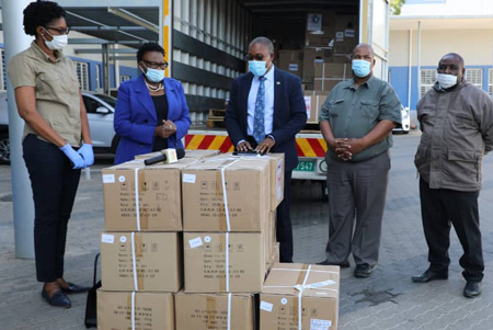 Humanitarian relief aid to curb COVID-19 arrives courtesy of Air Namibia