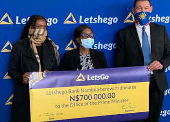 Letshego Namibia joins war against COVID-19 – Hands over donation to Office of the Prime Minister