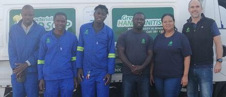 Local business creates ethanol-based sanitiser