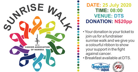 Sunrise Walk to fight cancer slated for 25 July