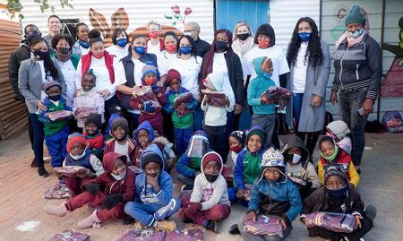 Hakahana learners receive warm tracksuits to keep the cold at bay