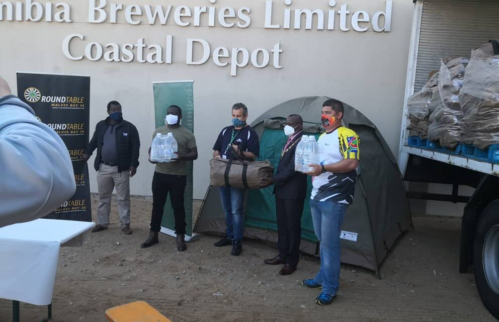 Breweries donates 450 tents to residents of Twaloloka informal settlement