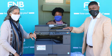 Monte Christo Primary receives photocopier to assist with the printing of teaching, learning material