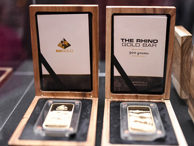 B2Gold's local Rhino Gold Bar campaign launched in North America