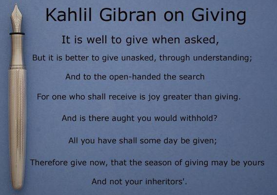 "The Season of Giving – ""En Gee, En Gee"" – Were you kind today?"