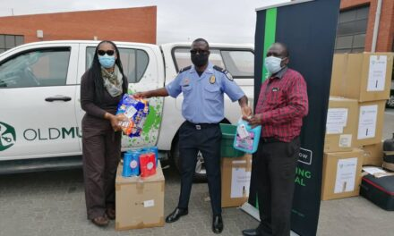OM employees assists the 153 affected Otweya households