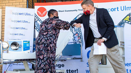 Ohorongo, Support e.V. partnership assists in the battle against COVID-19 – Health Ministry receives donated medical equipment