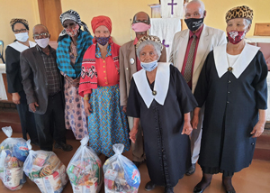 'Ageing is not lost youth but a new stage of opportunity and strength' – Mariental elderly supported with food parcels