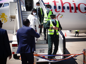 Flagship airport welcomes Ethiopian airways  – Government commited to reviving tourism sector