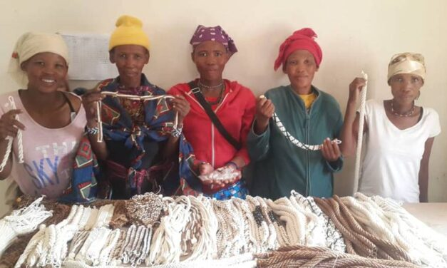 Traditional craft-making throws financial lifeline to the San community