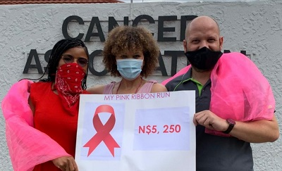 Cancer survivor raises funds for Cancer Association with Pink Ribbon walk