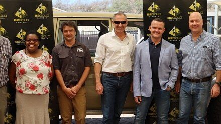 Rhino gold bar proceeds fund new patrol car for Save the Rhino Trust