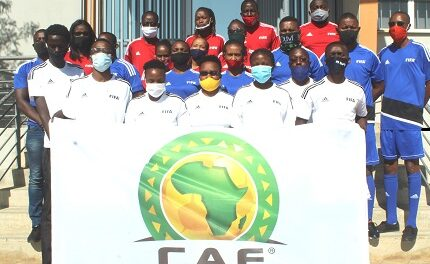 Confederation of African Football equips  eight Windhoek-based schools