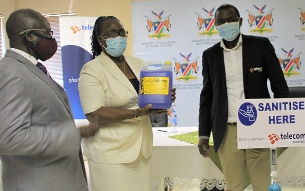 Sanitisers and masks for learners in remote public schools from telecommunications utility