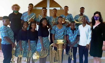 Bringing joy to the melodies of a community brass band