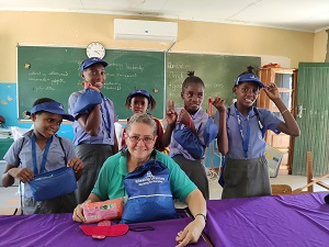 Rössing donates reusable pads to the girl child