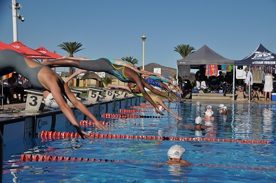Swimmers break relay records at second long course gala