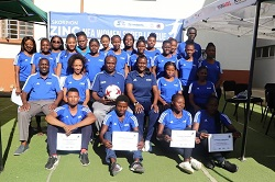 Participants of women's football admin course encouraged to impart gained knowledge to respective clubs